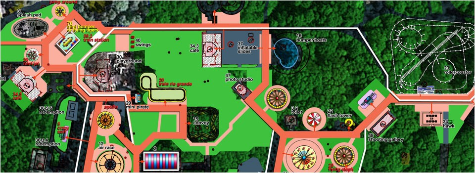Theme park design map