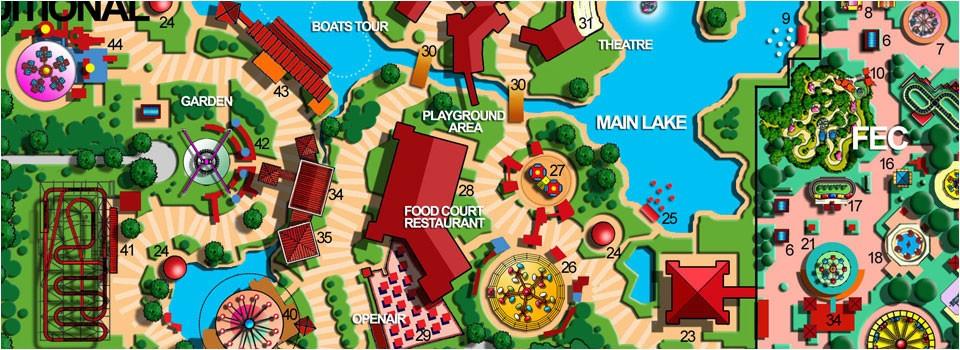 A theme park's masterplan