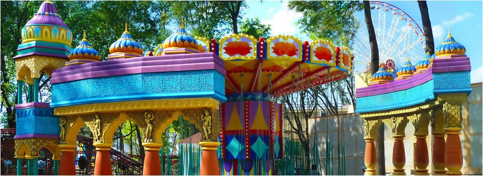 Themed rides and attractions